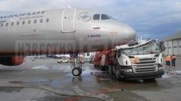 Один человек пострадал при столкновении топливозаправщика ссамолетом в«Шереметьево»