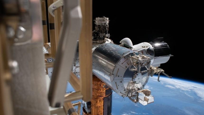 Crew Dragon отстыковался отМКС для возвращения наЗемлю— видео
