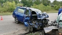 Шокирующие кадры сместа ДТП под Волгоградом, где погибли четыре человека (18+)