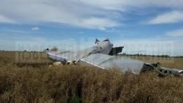 Видео сместа жесткой посадки легкомоторного самолета под Калининградом