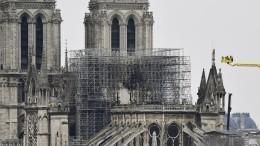 ВПариже приступили квосстановлению Собора Парижской Богоматери