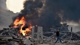 Реки крови икричащие люди наулицах Бейрута— видео