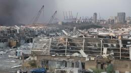 Всети появилось видео первого взрыва вБейруте, снятое сблизкого расстояния