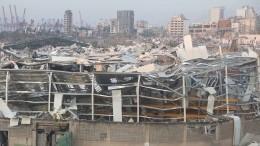 Видео: моряк судна, поврежденного вБейруте, рассказал опоследствиях взрыва