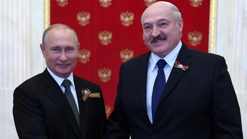 Путин иЛукашенко обсудили задержание россиян вБелоруссии