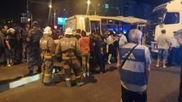 Фото: пять человек госпитализированы после столкновения автобуса ифуры вТамбове