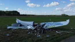 Легкомоторный самолет совершил жесткую посадку под Калугой