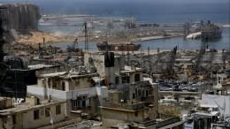 Страшные кадры, снятые дроном, пролетевшим сквозь руины вБейруте— видео