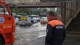 Несколько районов Подмосковья ушли под воду после сильного ливня