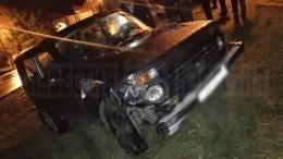 Фото сместа стрельбы поавтомобилю ссемьей вИнгушетии