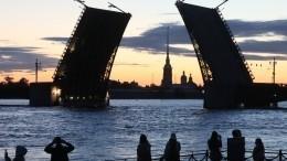 Прямая трансляция развода Дворцового моста вПетербурге под музыку Виктора Цоя