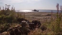 Морские десантники отбили уусловных террористов плацдарм наЕнисее— видео
