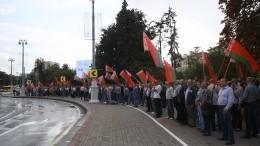 «Мывсе одна страна»— главные проспекты Минска пестрят государственными флагами