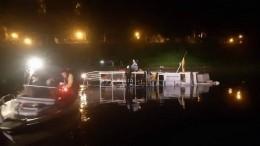 Прогулочный теплоход затонул вВологде, туристов экстренно эвакуировали— видео