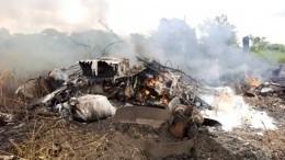 ВЮжном Судане самолет рухнул наферму изагорелся