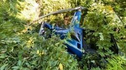 Фото сместа аварийной посадки вертолета вгорах вСочи