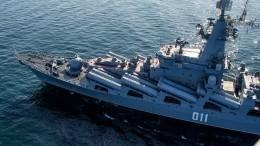 Крейсер «Варяг» иатомная подлодка «Омск» провели стрельбы вБеринговом море