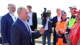 Путин открыл движение потрассе «Таврида» вКрыму
