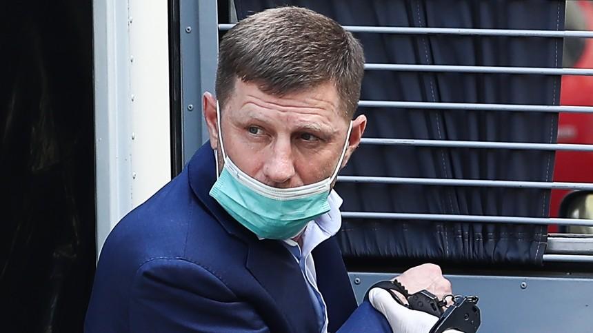 СКпредъявил обвинение экс-губернатору Фургалу ворганизации убийства