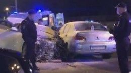Массовая авария затруднила движение наКутузовском проспекте вМоскве— видео