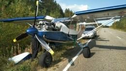 Самолет совершил аварийную посадку наавтомобильной трассе вКоми