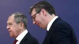 Лавров иВучич обсудили потелефону взаимоотношения Сербии иРоссии