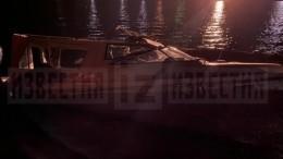Видео сместа столкновения катера ибаржи вСургуте, где погиб криминальный авторитет