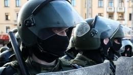 Видео: силовики вБресте применили слезоточивый газ против протестующих