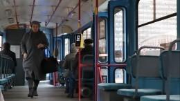 Видео: Трамвай спассажирами вспыхнул находу вКазани