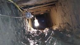 Фото тоннеля, вырытого сбежавшими изколонии вДагестане заключенными