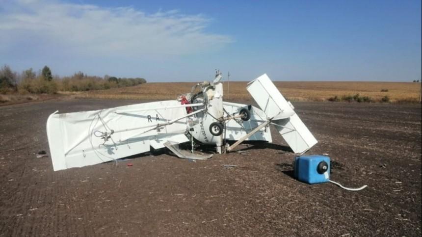 Фото сместа авиакатастрофы вТульской области