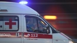 Видео сместа обрушения пожарной лестницы вПетербурге, где едва непогибла женщина