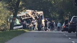 «Услышал удар»: очевидец осмертельном ДТП савтобусом игрузовиком под Калининградом