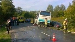 Траур попогибшим вДТП савтобусом объявлен вКалининградской области
