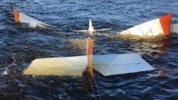 Видео сместа падения самолета вВолгу вНижегородской области