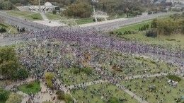Тысячи людей вышли намитинг вМинске в50-й день протестов