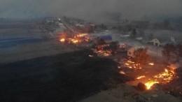 Более 20 домов сгорели под Воронежем из-за лесных пожаров— видео