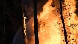 Спасателям неудается справиться согненной стихией под Воронежем— видео