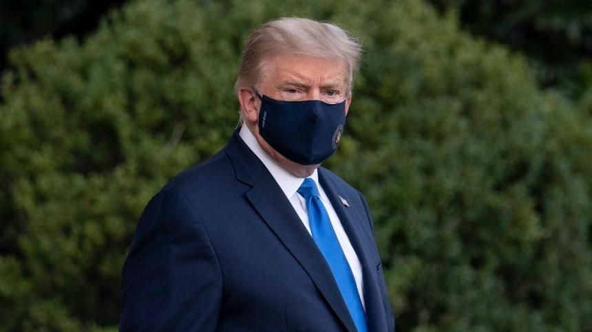 «Люблю!»— инфицированный коронавирусом Трамп обратился кстране