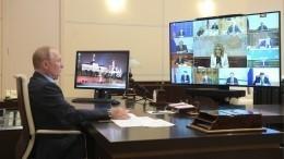 Путин призвал неоткладывать вдолгий ящик работу понацпроектам— видео