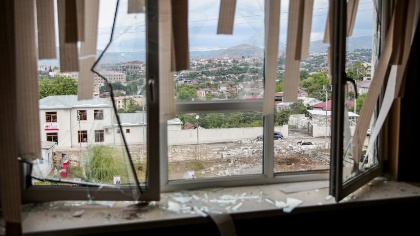 Азербайджан обстрелял гражданские объекты вКарабахе— Минобороны Армении