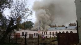 Пожар вбывшей конюшне вусадьбе Голицыных локализован вБалашихе