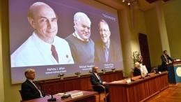Первооткрыватели вируса гепатита Сполучили Нобелевскую премию помедицине