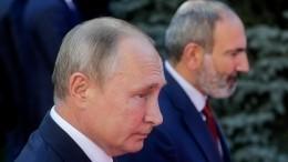 Путин вразговоре сПашиняном подчеркнул срочную необходимость прекращения боевых действий