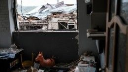 Ракета упала набалкон жилого дома вНагорном Карабахе— видео
