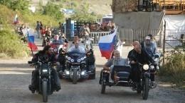 Сднем рождения президента РФВладимира Путина поздравили «Ночные волки»