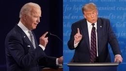 Теледебаты наудаленке: Трамп иБайден впрямом эфире поговорили сизбирателями