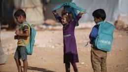 ИзСирии вРоссию доставили 27 детей— видео