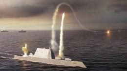 Первый боевой пуск ссуперэсминца Zumwalt американского флота сняли навидео