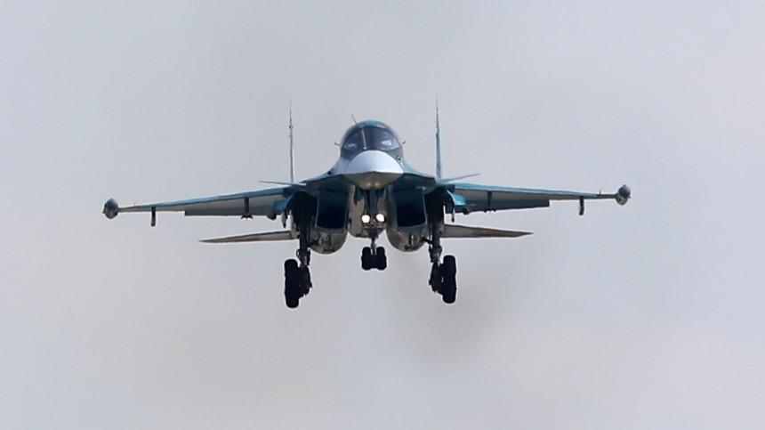 Разбившийся вХабаровском крае бомбардировщик Су-34 взорвался иполностью сгорел